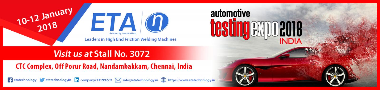 ETA Automotive Testing Banner