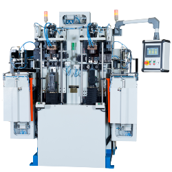 KVA Twin Head Servo Electrical Up setters with Pneumatic Auto load